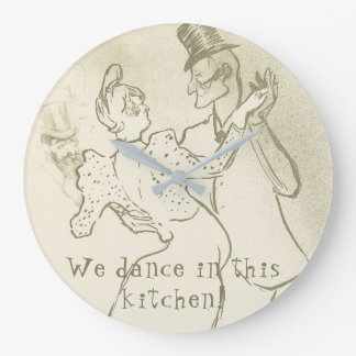 We dance in this kitchen   Lautrec, Dancing couple Large Clock