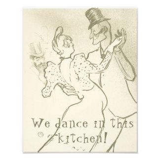 We dance in this kitchen   Lautrec, Dancing couple Photo Print