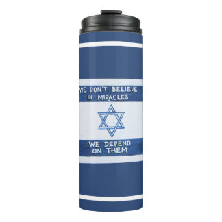 We Depend On Miracles Thermal Tumbler