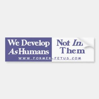 We Develop Bumper Bumper Sticker