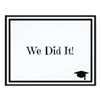 We Did It Graduation 11 Cm X 14 Cm Invitation Card