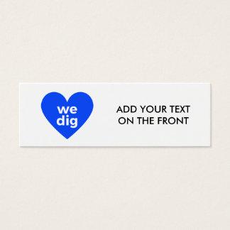 We Dig - Blue Mini Business Card