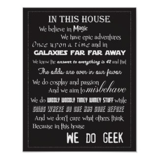 We Do Geek Poster - B/W