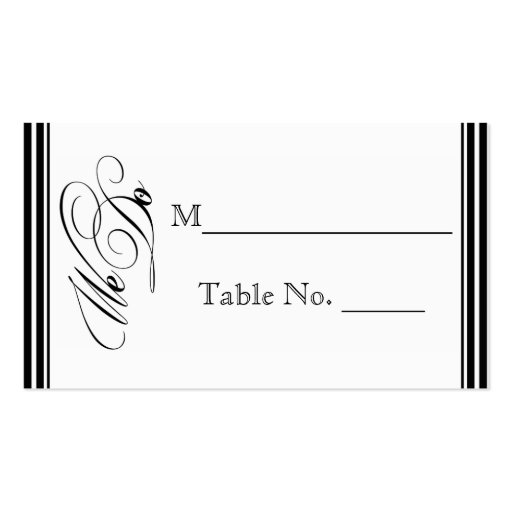 We Do Modern Frame in Black and White Place Card Business Card Templates