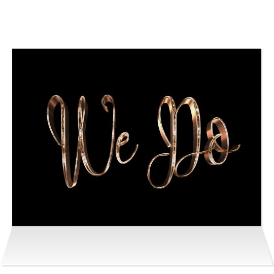 We Do Save The Date Wedding Black Copper Gold Chic Card