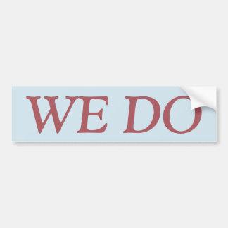 WE DO sticker