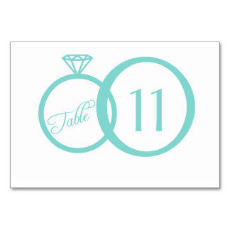 We Do! Table Number Card Table Cards