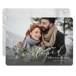WE ELOPED (MARBLE BACKER) CARD