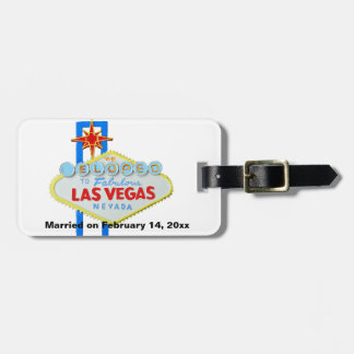 We Eloped to Las Vegas Wedding Memento Luggage Tag