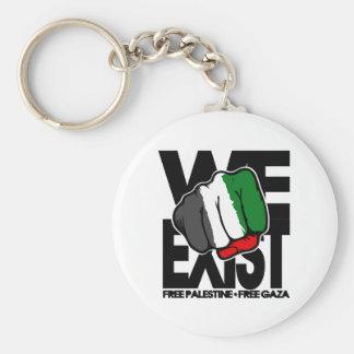 We Exist - Free Palestine - Free Gaza Key Chain