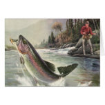 We Fish You A Merry Christmas, Vintage Trout Fish Greeting Cards