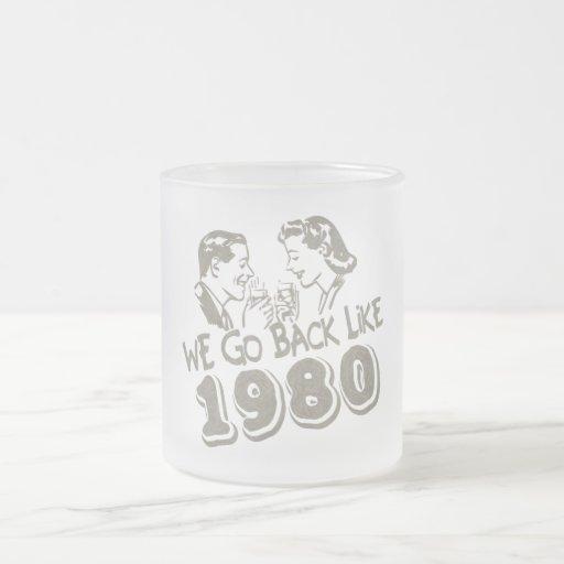 We Go Back Like 1980-Small Frosted Glass Mug