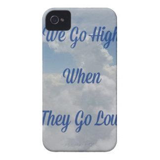 'We Go High' Quote Unusual Cloud Formation iPhone 4 Covers