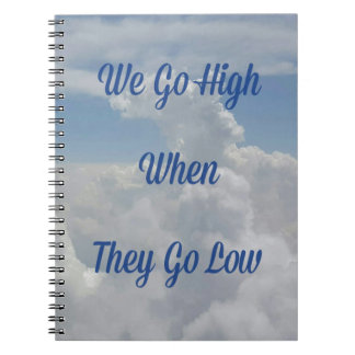 'We Go High' Quote Unusual Cloud Formation Note Books