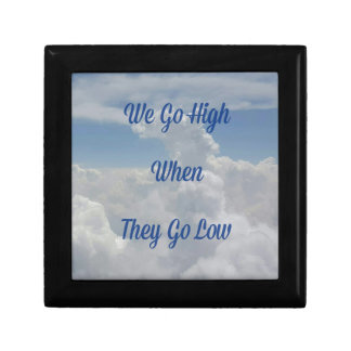 'We Go High' Quote Unusual Cloud Formation Small Square Gift Box