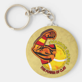 We go Rafa! Basic Round Button Key Ring