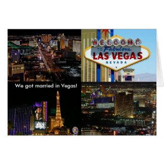 We got married in Vegas! Card