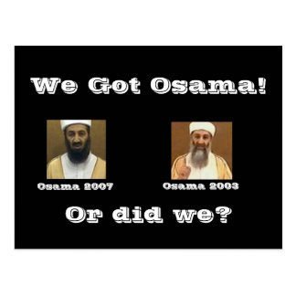 We Got Osama! Postcard