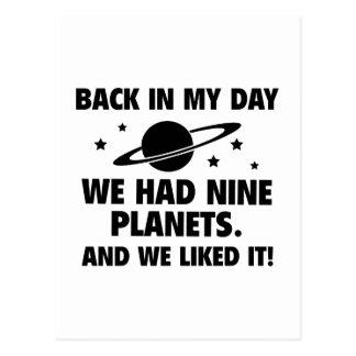 We Had Nine Planets Postcard