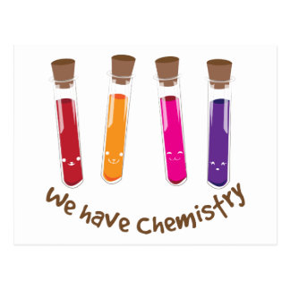 We Have Chemistry Postcards