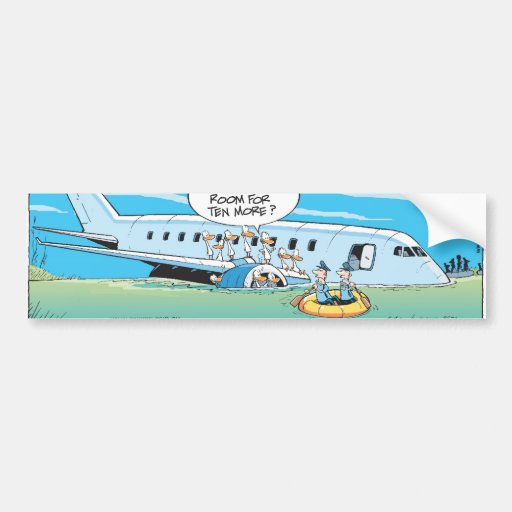 We Have Landed Thankyou For Flying Bumper Stickers