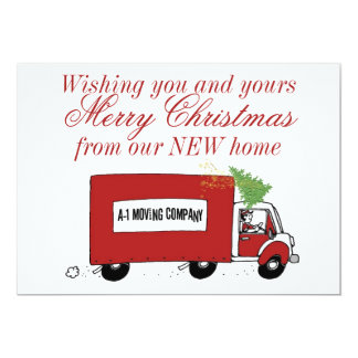 We have moved Christmas change of address 13 Cm X 18 Cm Invitation Card