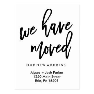 We Have Moved | Simple Modern Typography Postcard