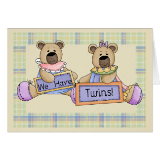 We Have Twins Greeting Card