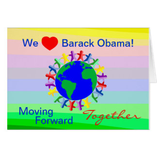 We Heart Barack Obama! Vote on 11/06/12 Card