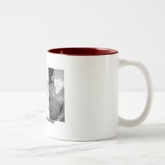 we heart grandpa gigi Two-Tone coffee mug