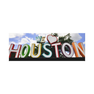 we heart houston canvas print