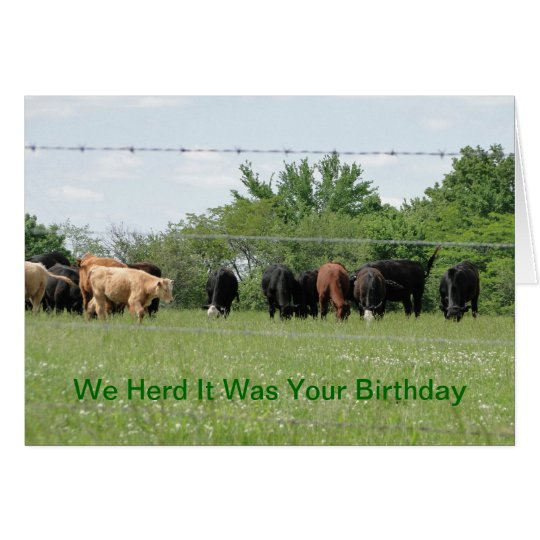 We Herd It Was Your Birthday Card