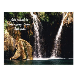 We hiked to Hanging Lake, Colorado Postcard