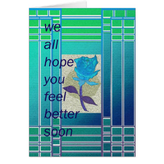 we hope you feel better soon greeting card