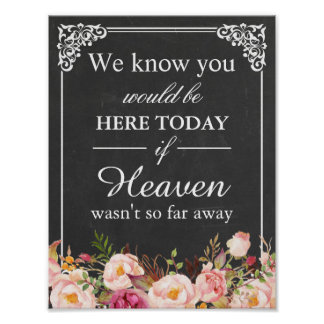 We Know You Would Be Here Remembrance Wedding Sign