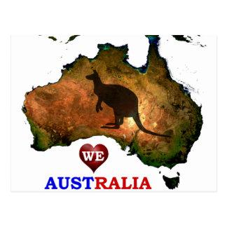 WE LOVE AUSTRALIA. POSTCARD