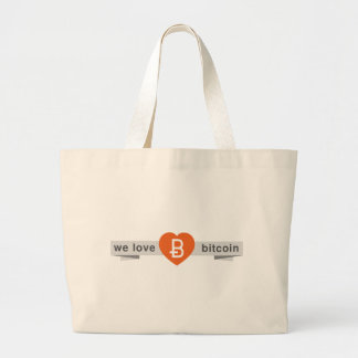 We Love Bitcoin Large Tote Bag