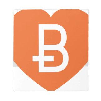 We Love Bitcoin Notepad