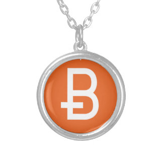 We Love Bitcoin Silver Plated Necklace