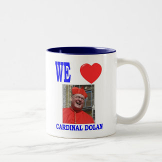 WE LOVE CARDINAL  DOLAN Two-Tone COFFEE MUG
