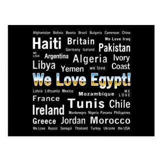 We Love Egypt, et al Postcard