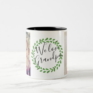 We Love Grandpa Custom Photo Mug