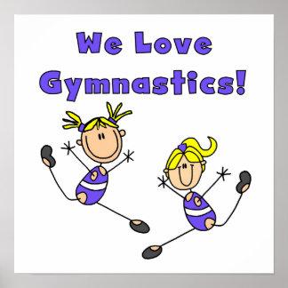 We Love Gymnastics Poster