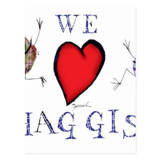 we love haggis postcard