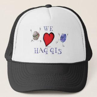 we love haggis trucker hat
