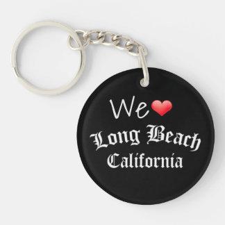 We love (heart) Long Beach Keychain