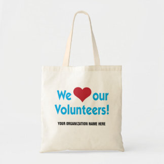 We Love Our Volunteers with heart symbol