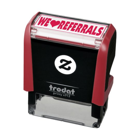 We Love Referrals Self-inking Stamp