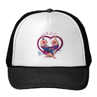 We Love Rock N Roll Heart Trucker Hats