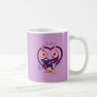We Love Rock N Roll Heart Mug
